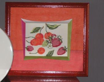 Strawberries and cherries cross stitch chart