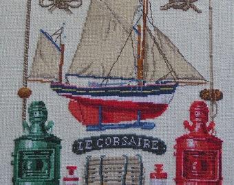 "Embroidery ""fishing Museum"" cross stitch"