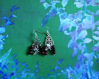 Dragon heart earrings