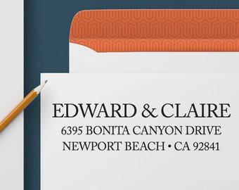 Return Address Stamp 343 - Self Inking Stamp, Custom Address Stamp, Custom Stamp, Personalized Address Stamp, Wedding and Housewarming Gift