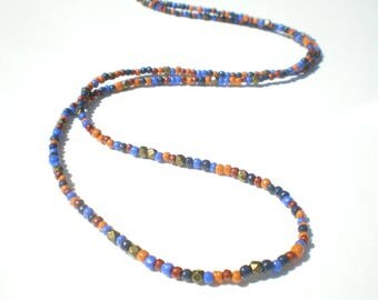 Fine ethnic necklace in shades of autumn