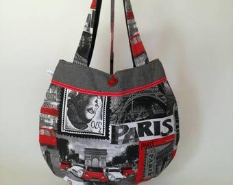 "Handbag ""Paris"" cotton and wool"
