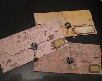 Gift, tickets, Christmas designs, vintage label kraft bags
