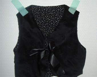 sleeveless vest reversible black velvet star 6 months