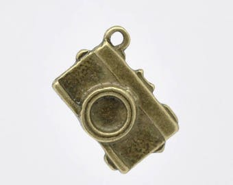 40 Charms charms camera Bronze - SC12959 - 18x13mm