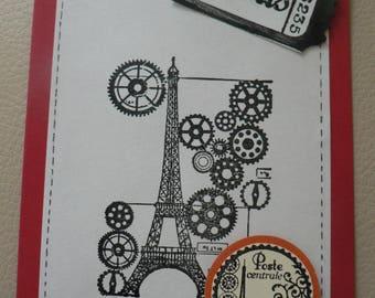 Wheels Paris themed scrapbooking card