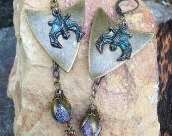Mystical, ancient Gothic earrings