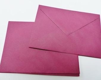 10 envelopes coloured Burgundy 16 X 11.5 cm C6 envelope
