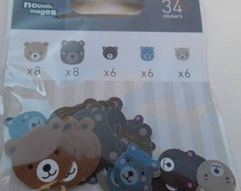 MINI STICKERS for shelf or CONSOLE * Cubs * 2 cm and 1.2 cm EAN 3045677575731