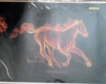 WALL DECALS * FIRE HORSE *.