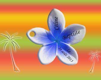 lozenge plumeria frangipani bean label tag
