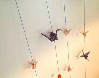 """Tokyo"" mobile origami fine Japanese cranes"