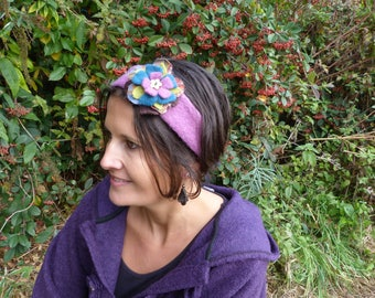 Boiled wool, removable brooch headband!