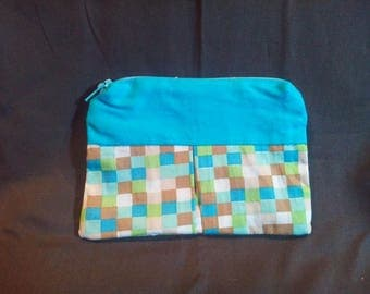 Wallet pattern turquoise Plaid
