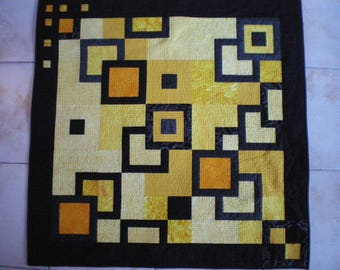 quilting, blanket or wall hanging modern yellow and black