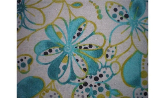 tissus patchwork grosses fleurs turquoises et jaunes r f6171pb. Black Bedroom Furniture Sets. Home Design Ideas
