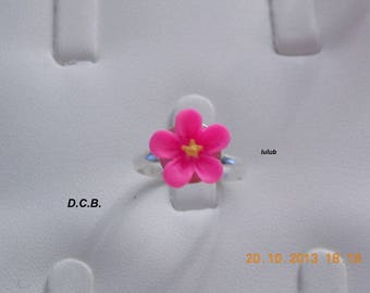 SMALL SIZE ROSE FLOWER ADJUSTABLE RING