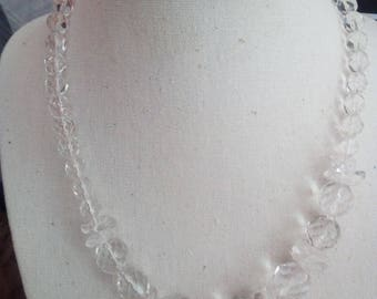 Faceted rock Crystal Necklace