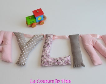 Garland name letters @lacouturebytitia hand made room decoration