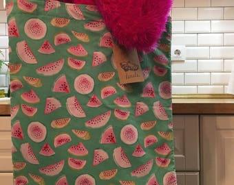 Handmade Totebag with watermelon fabric