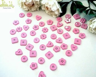 scented ceramic chalk pink buttons