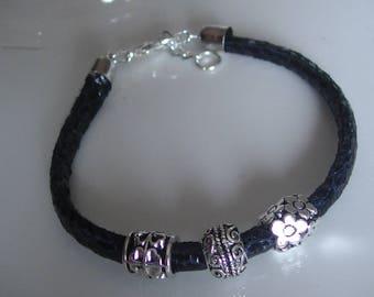 Blue bracelets with charms