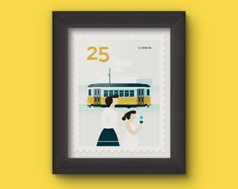 Mini Art Print - Stamp / Lisbon