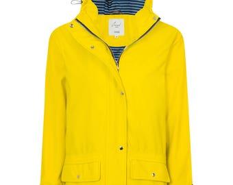Women's Yellow Water Resistant Rubber Rain Coat