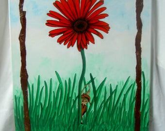 Contemporary painting of a flower