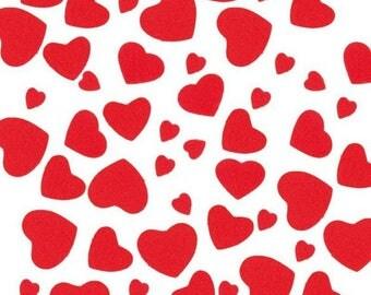 Sticker in felt - red heart - x 20 gr.