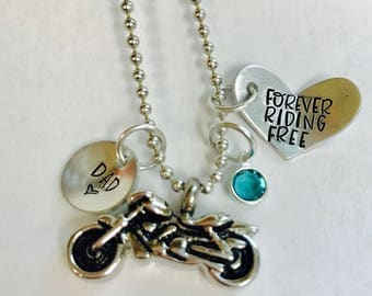 Cremation • Fallen rider • urn necklace •motorcycle urn • ashes • motorcycle pendant • loss of loved one • memorial • man urn • urn