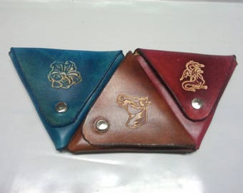 triangle coin purse double opening