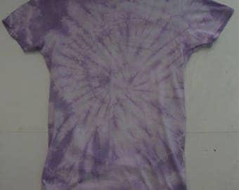 Purple tie dye unisex t-shirt