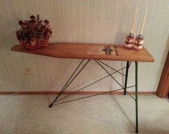 Antique 1940-50's H. Keller Wooden Ironing Board/Hall Table Rustic Décor