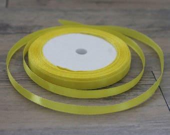 20 m yellow 6mm satin ribbon