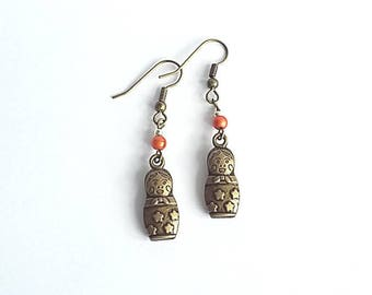 Fancy Russian doll earrings