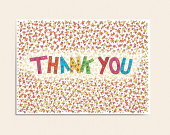 Thank You Card - Thank You Cosmic Star Love