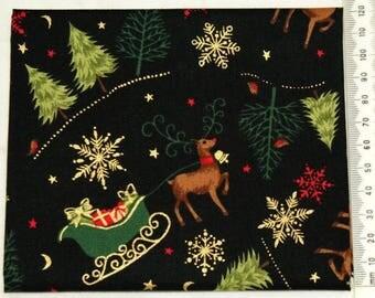 Fabric patchwork - Makower - Christmas 2014 - 02