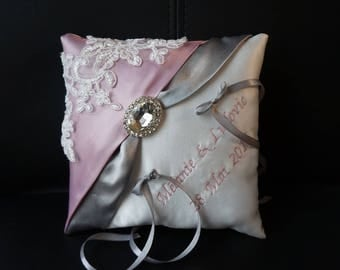 rhinestone diamond wedding ring cushion