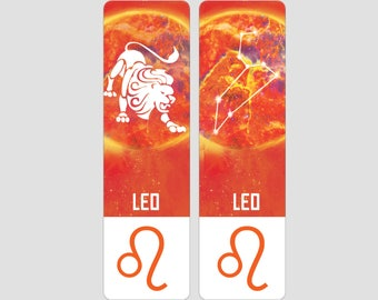 Leo Zodiac Sign Indestructible waterproof bookmark
