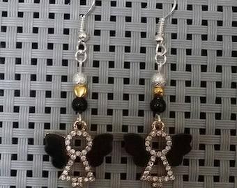 "Earrings ""Dark Angel"" by 5cm"