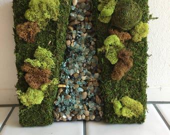 Moss Wall Art River 12x12