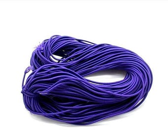 1 meter - stretch - woven cord (3mm) - purple