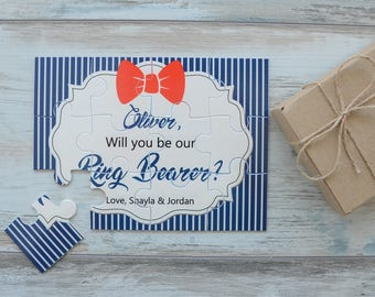 Will You Be Our Ring Bearer Personalized Proposal Puzzle, Ring Bearer Proposal, Asking Ring Bearer Puzzle, Ring Bearer Gift, Ask Ring Bearer