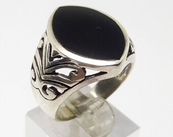 925 sterling silver men ring handmade middle eastern jewelry
