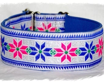 Dog collar #Amazing folk# Jacquard ribbon with unique colourful ornaments, Elegant design for Pet accessories, Fashion for dogs
