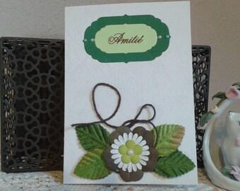 Friendship flowers card
