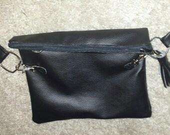 Small black leatherette bag