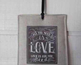 Decorative hanging Chalkboard (Love)