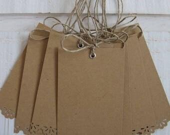 Set of 10 Kraft lace